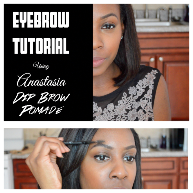 DETAILED EYEBROW TUTORIAL -Anastasia Dip Brow Pomade (Chocolate)!